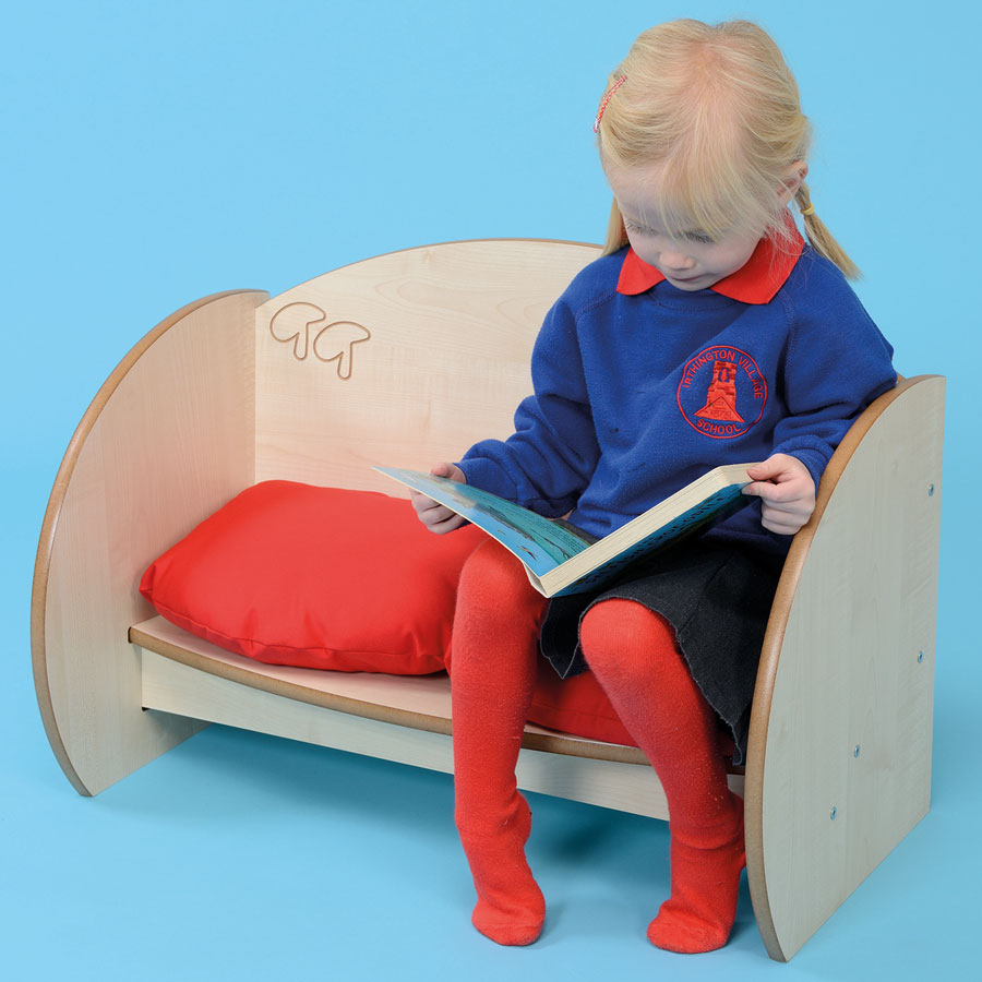 ''Mini'' Children's Wooden Bench Seat + Cushions