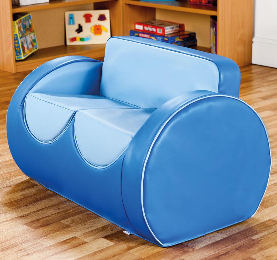 Deco children 39 s lounge furniture blue blue - Deco lounge blue duck ...
