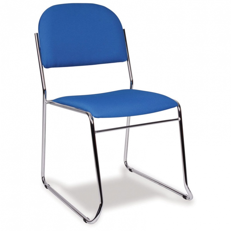 Vesta Stacking Skid Base Lightweight Upholstered Chair