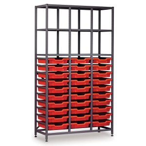 Tall 3 Bay Science Storage - 30 Shallow Tray (C)