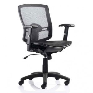 Palma Mesh Task / Operator Chair + Adjustable Arms