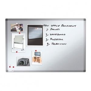 Magnetic Classroom Whiteboard + Pen Tray