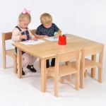 Nursery Wooden Table & Chairs (210SH) Package