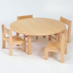 Nursery Round Wooden Table & Chairs (260SH) Package