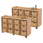 12 Deep Wicker Flexi Storage Unit x 2
