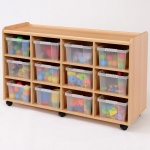 12 Deep Clear Tray Classroom Storage