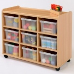 9 Deep Clear Tray Classroom Storage