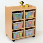6 Deep Clear Tray Classroom Storage
