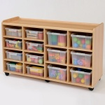8 Shallow / 6 Deep Clear Tray Classroom Storage