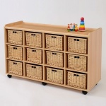 12 Deep Wicker Basket Flexi Storage Unit