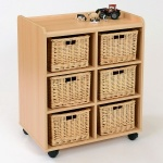 6 Deep Wicker Basket Flexi Storage Unit
