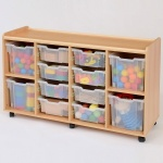 8 Deep / 4 Jumbo Clear Tray Classroom Storage