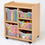3 Deep / 2 Jumbo Clear Tray Classroom Storage