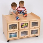Double Sided Nursery Resource Unit + Doors On 1 Side