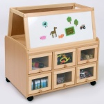 Double Sided Nursery Resource Unit + Doors & Easel