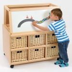 Double Sided Nursery Resource Unit + Easel & Baskets
