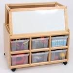 Double Sided Nursery Resource Unit + Easel & Deep Trays