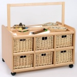 Double Sided Nursery Resource Unit + Mirror & Baskets