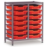Low 2 Bay Science Storage - 14 Shallow Trays
