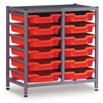 Low 2 Bay Science Storage - 12 Shallow Trays