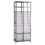 Tall 2 Bay Chemical Storage - Multi-Tray