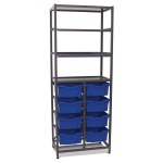 Mid-Height 2 Bay Science Storage - Shallow / Deep Trays