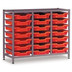Low 3 Bay Science Storage - 21 Shallow Trays