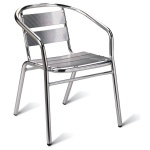 Aluminium Outdoor School Cafe Armchair