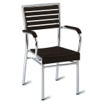 Monaco No Wood! Outdoor Cafe Armchair - Dark