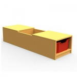 ''Curve'' Book Seat Storage (1 Tray High)