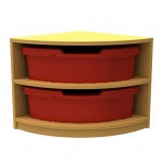 ''Curve'' Quarter Corner Storage  (2 Trays High)