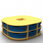 ''Curve'' Island Storage (2 Trays High)