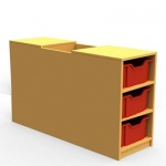''Curve'' Book Seat Storage (3 Trays High)