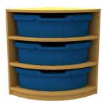 ''Curve'' Quarter Corner Storage (3 Trays High)