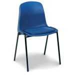 Tech Plastic Stacking Chair + Seat Pad