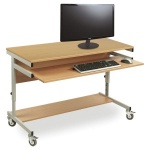 Height-Adjustable Mobile Computer Workstation