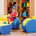 Deco™ Children's Lounge Furniture - Blue / Yellow