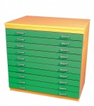 A1 Paper Storage (10 Coloured Drawers)