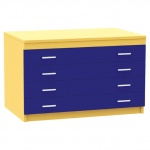 A1 Paper Storage (4 Coloured Drawers)