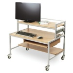 Two Tier Computer Trolley Desk