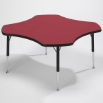 Tuf-Top™ Height Adjustable Clover Tables - Red