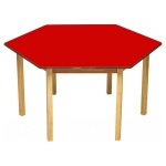 Tuf Class™ Hexagonal Table - Red
