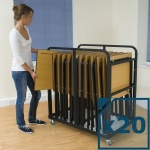 20 Tuf™ Exam Desks & Trolley