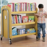 Tuf2™ Library Trolley with Display Shelf