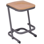 Form™ Cantilever Wooden-Top Lab & Craft Stool