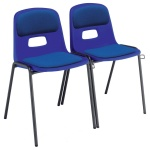 Remploy GH20 School Hall Linking Chair + Seat & Back Pad