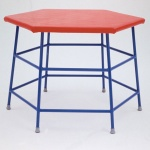 School Gym Padded Hexagonal Movement Table 840mm high