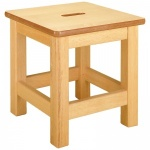 Low Wooden Stool