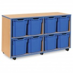 8 Jumbo Blue Tray Store with Blue Edging