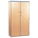 Lockable Cupboard with 5 Shelves & Blue Edging (1800H)